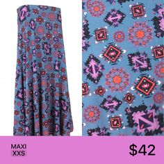 LuLaRoe Maxi skirts are the ultimate in wardrobe versatility! To purchase, or see more fabulous prints like this, visit www.rackedwithpayne.com