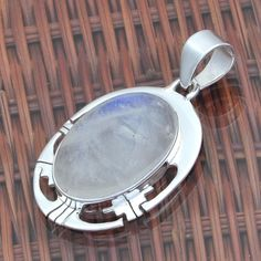 RAINBOW MOONSTONE 925 STERLING SILVER DESIGNER PENDANT 6.55g DJP5783 #Handmade #Pendant