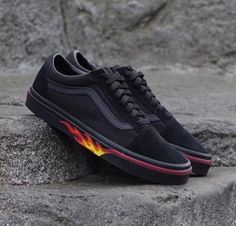 7969c6ac7fd vans Old Skool FLAME WALL US UNISEX SIZES VN0A38G1Q8Q