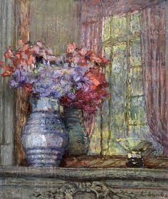 ❀ Blooming Brushwork ❀ - garden and still life flower paintings - Ethel Sands   Flowers in a Jug   1920-29