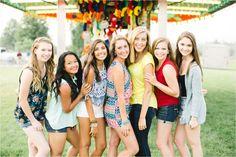 Central Pennsylvania Senior Photographer Brianna Wilbur photographed senior girls at local, fun, colorful carnival Fair Photography, Group Pictures, High School Seniors, Wedding Portraits, Portrait Photographers, Pennsylvania, Something To Do, Carnival, Cute Outfits