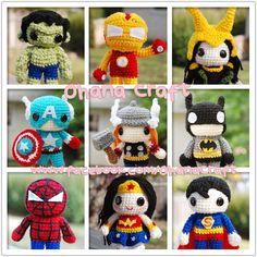 Free Amigurumi Superhero Patterns : 1000+ images about Bazar de amigurumis on Pinterest ...