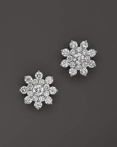 Bloomingdale's Diamond Cluster Star Stud Earrings in White Gold, ct. - Exclusive Jewelry & Accessories - Fine Jewelry - All Fine Jewelry - Bloomingdale's Diamond Earrings Indian, Diamond Earing, Diamond Pendant, Gold Earrings, Diamond Jewelry, Gold Jewelry, Jewelry Accessories, Fine Jewelry, Platinum Earrings