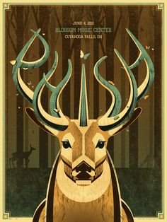 "Phish ""Blossom Music Center"" Poster June 4, 2011 by DKNG Studios"