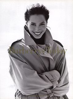 Christy Turlington in Burberry ad campaign Fall 1993