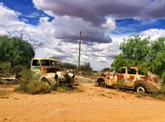 Old cars in the outback