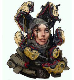 Scifi cybergirl by Bulygin on DeviantArt Character Concept, Character Art, Concept Art, Character Design, Cyberpunk Girl, Cyberpunk Character, Cyberpunk 2077, Afrika Corps, Sci Fi Armor