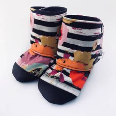 Buy Now Floral Stripe Baby Boots Baby Booties Floral Baby...