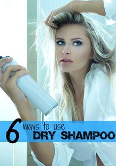 6 new ways to use dry shampoo