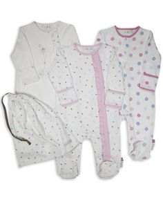 3 Pack Baby Girl Balloon Sleepsuits Babygrows - Pink  www.theessentialone.com #babyfashion #baby #kidsfashion #parenting #newborn #babystuff #theessentialone