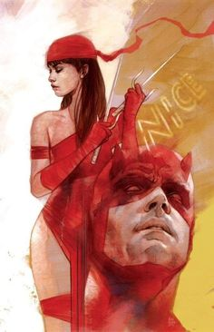 "Elektra Natchios & Daredevil (Matthew Michael ""Matt"" Murdock) by Ben Oliver Marvel Art, Daredevil Art, Marvel Dc Comics, Marvel Comics Art, Comics"
