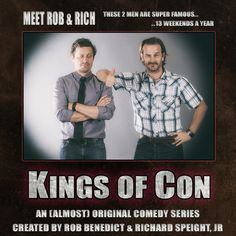 Jared Padalecki        ✔ @jarpad ~ Hey yall! @RobBenedict & @dicksp8jr put together an AWESOME show & we need your help to make it happen! #KingsofCon http://igg.me/at/kingsofcon  Jensen Ackles        ✔ @JensenAckles ~ Not sure who these yahoos are, but I'm in. Who's coming with me? #KingsofCon http://igg.me/at/kingsofcon
