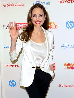 Actress Angelina Jolie spoke at New York's Women in the World summit at Lincoln Center on March 8th, 2012