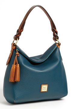 Free shipping and returns on Dooney & Bourke Leather Hobo at Nordstrom.com. Richly pebbled leather shapes a slouchy hobo accented with a twisted leather strap, tasseled zip pull and goldtone logo hardware for a refined finish.