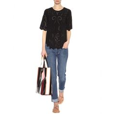 mytheresa.com - Top in seta - Maniche corte - Top - Abbigliamento - Vanessa Bruno - Luxury Fashion for Women / Designer clothing, shoes, bags