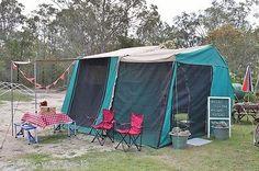Vintage Retro Camper Trailer Tent Fishing Surf Camping Van in Cars, Bikes, Boats , Caravans, Motorhomes | For Sale on eBay