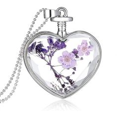 AmazonSmile: Usstore Women Lady Creative Lavender Romantic Hearts... ($1.99) ❤ liked on Polyvore featuring jewelry, pendants, heart jewellery, pendant jewelry, heart jewelry, heart pendant jewelry and heart-shaped jewelry