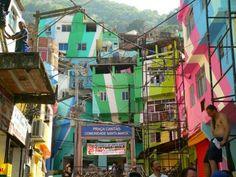 Intervenção na favela de Santa Marta - Rio de Janeiro, Brasil