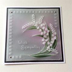 stokesy | docrafts.com Parchment Cards, Iris Folding, Diy Christmas Cards, Sympathy Cards, Paper Quilling, Love Cards, Paper Cards, Birthday Cards, Card Ideas