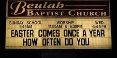 Do you actually want me to count? | 27 Unintentionally Sexual Church Signs