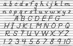 collins handwriting scheme