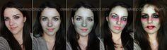 Halloween Make-up - Zombie  http://deea-makeup.blogspot.ro/2011/10/halloween-make-up-zombie.html