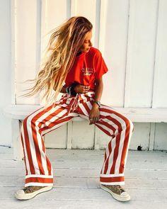 """Shopbop on Instagram: """"@pamelatick wears these @alietteny stripes just right 😉🧡"""""""