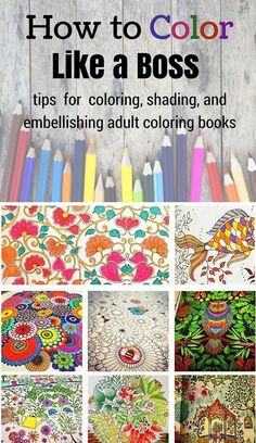Pencil Drawing Color Learn how to rock coloring books with these tips and tricks for awesome coloring, shading, and embellishments! - Learn how to color and rock coloring books with these tips and tricks for awesome coloring, shading, and embellishments! Coloring Book Pages, Coloring Sheets, Coloring Pages For Grown Ups, Colored Pencil Techniques, Colored Pencil Tutorial, Coloring Tips, Kids Coloring, Free Coloring, Coloring Tutorial