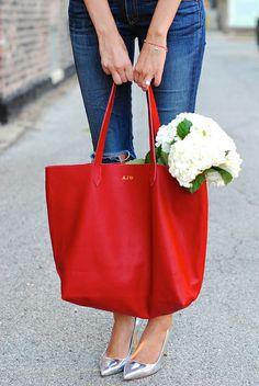 Cuyana monogrammed bag
