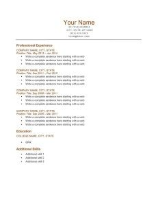 park burnt orange resume template free download. Resume Example. Resume CV Cover Letter