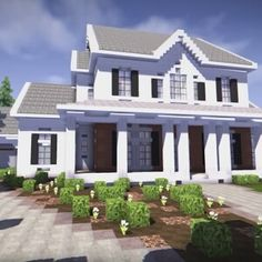 Minecraft - Suburban House Tutorial (Minecraft House) | Minecraft ...