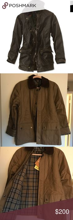 Women's Barbour Acorn Waxed Jacket Product description in photos. Brand new & never worn Barbour Jackets & Coats Utility Jackets