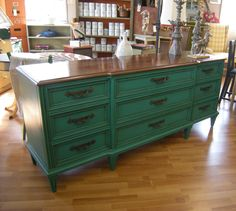Florence Annie Sloan Chalk Paint™ Dresser with both dark and light wax