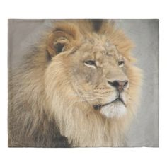 Lion Lovers Art Gifts Duvet Cover - beauty gifts stylish beautiful cool