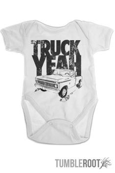 "Country baby onesie - ""Truck Yeah"" from TumbleRoot #tumblerootlove"