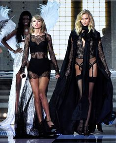 Taylor Swift and Karlie Kloss  The pair took their BFF status to the next level, walking the runway together hand-in-hand as Swift performed for a second time. Not that it came as a surprise--after all, the duo has barely left each other's sides since the moment they arrived in London.