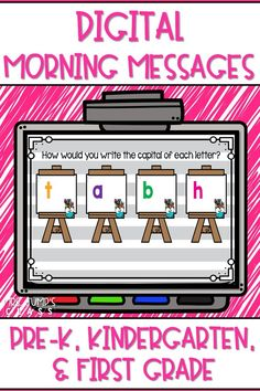 Start your day off right with these digital morning messages to practice math and literacy skills. This resource is perfect for both, virtual learning and inside the classroom!