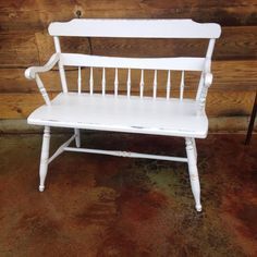 Chair bench makeover from The Nest located in Bonners Ferry Idaho using Superior Paint Co. Bonners Ferry, White Chalk, Chair Bench, Chalk Paint Furniture, Outdoor Furniture, Outdoor Decor, Idaho, Nest, Home Decor