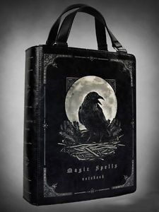 Restyle Rabe Buch Leder Tasche Gothic Lolita Magic Raven Faux Leather Book Bag | eBay