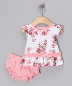 Take a look at this Pink Spring Bouquet Dress & Diaper Cover - Infant by Everyday Nay on #zulily today!