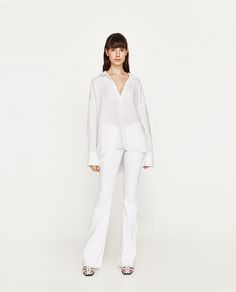 Image 1 of LINEN BLOUSE from Zara