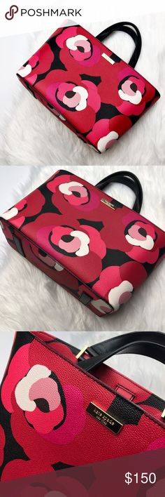 NWT Kate Spade Floral Grant Street Juno Bag Brand new with tags! So cute and perfect for summer. Two short handles. Red and pink graphic floral. Zipper inside pocket. No trades!! kate spade Bags Satchels