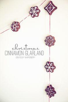 Cinnamon potpourri ornaments: Just Cinnamon and Applesauce (chalk makes white accents)