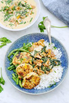 kurczk_przepis_codojedzenia Chicken Cutlets, Kitchen Recipes, Ricotta, Chicken Recipes, Curry, Dinner Recipes, Food And Drink, Eat, Ethnic Recipes