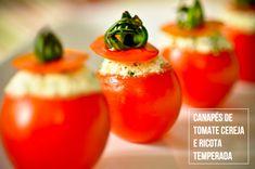 Receita canapé de tomate cereja e ricota temperada (Receita: Dedo de Moça | Foto: Carol Milano)
