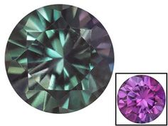 Russian Color Change Alexandrite Average .90ct 6mm Round