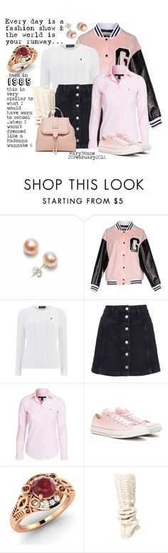 """""""31 years ago.... My Outfit of the Day!"""" by octobermaze ❤ liked on Polyvore featuring Bling Jewelry, GaÃ«lle Bonheur, Topshop, GANT, Converse, Diamondere, Lemon, women's clothing, women and female"""