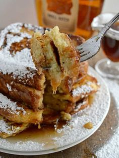 Warm Vanilla Bourbon Syrup for French Toast