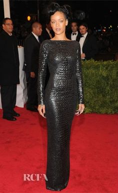 Rihanna in Tom Ford at the 2012 Met Gala. Photo Credit: RCFA