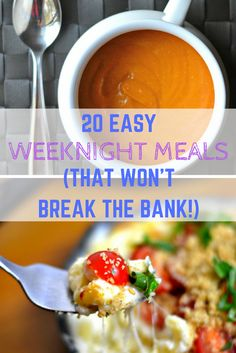 Whether you need an entree for a school night, unexpected guests, or just a busy weeknight, these cheap and easy weeknight meals will save you time and money. http://4hatsandfrugal.com/2015/08/cheap-easy-weeknight-meals.html Food, Food Recipes, Food Photography, Food healthy, DIY food, DIY food For teens, DIY food Recipes, Recipes, Recipes Easy, Organic food, budget meals
